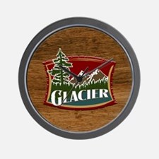 Glacier Mountains Wall Clock