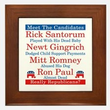 The Republican Candidates Are a Joke Framed Tile