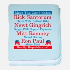The Republican Candidates Are a Joke baby blanket
