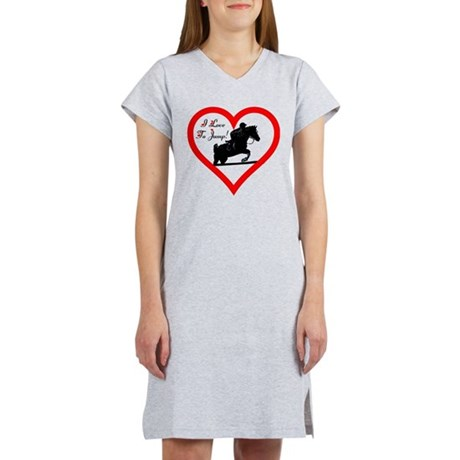 I Love To Jump! Horse Women's Nightshirt