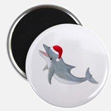 Santa - Dolphin Magnet