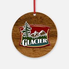 Glacier Mountains Ornament (Round)
