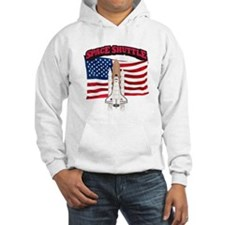 Space Shuttle and Flag Hoodie