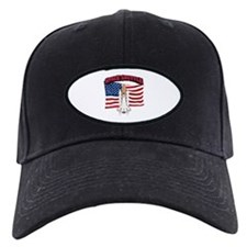Space Shuttle and Flag Baseball Hat