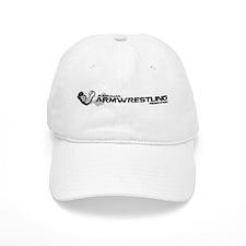 Armwrestling Australia White Logo Baseball Cap