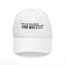Armwrestling Australia Men's White Quote Hat