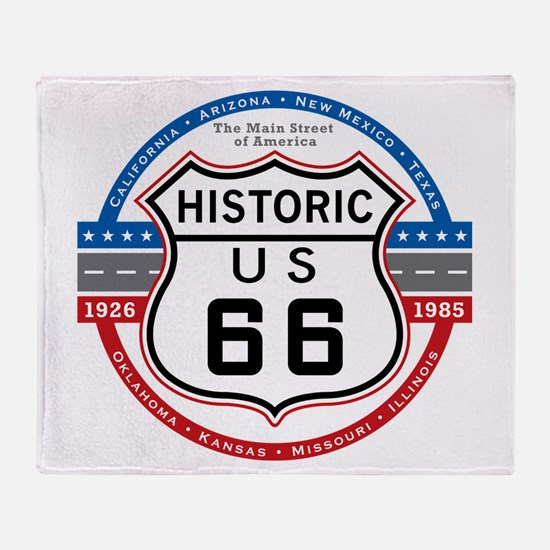 Historic Route 66 Throw Blanket