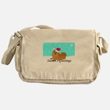 Orange Pomeranian Messenger Bag