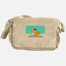 Particolor Pomeranian Messenger Bag