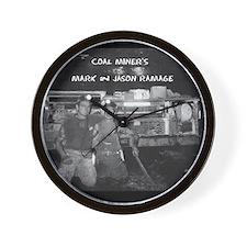 Coal Miner Wall Clock