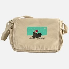 Black Pomeranian Messenger Bag