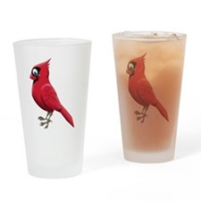 Red Smiley Face Drinking Glass