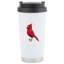 Red Smiley Face Travel Coffee Mug