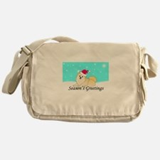 Cream Pomeranian Messenger Bag