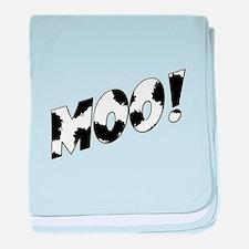 Moo! baby blanket