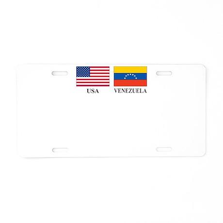 USA-VENEZUELA Aluminum License Plate