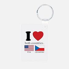 USA-CZECH REBUPLIC Keychains