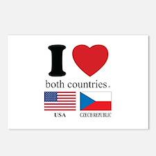 USA-CZECH REBUPLIC Postcards (Package of 8)
