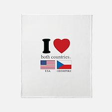 USA-CZECH REBUPLIC Throw Blanket