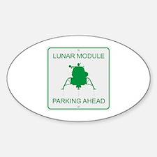 Lunar Module Parking Sticker (Oval)
