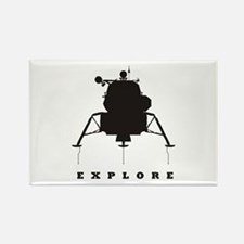 Lunar Module / Explore Rectangle Magnet