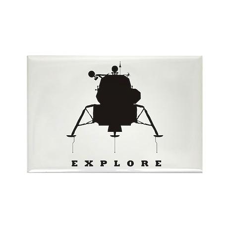 Lunar Module / Explore Rectangle Magnet (100 pack)