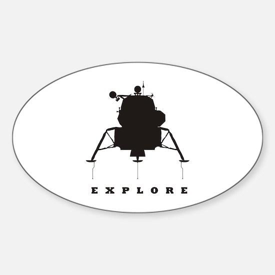 Lunar Module / Explore Sticker (Oval)