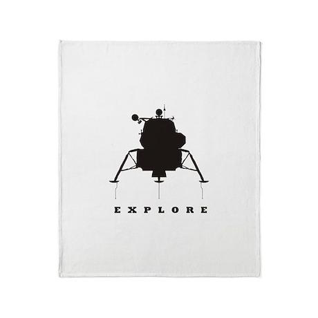 Lunar Module / Explore Throw Blanket