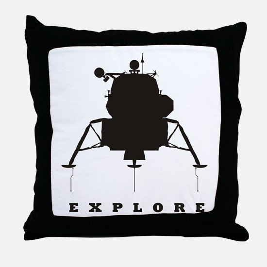 Lunar Module / Explore Throw Pillow