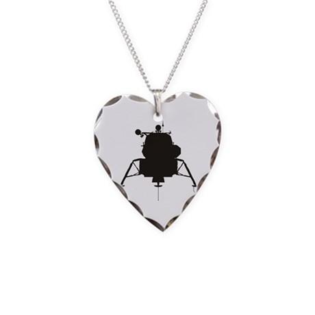 Lunar Module Necklace Heart Charm