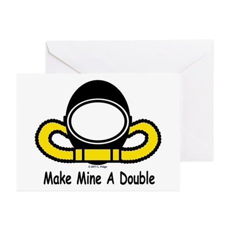 Make Mine A Double Greeting Cards (Pk of 10)