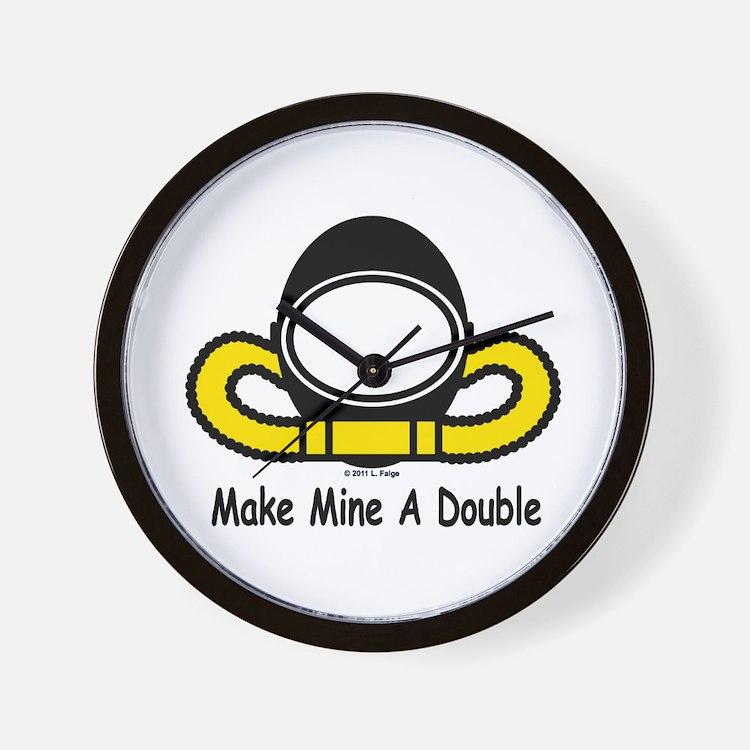 Make Mine A Double Wall Clock