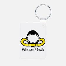 Make Mine A Double Keychains