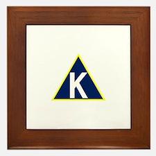 Triangle K jpg Framed Tile