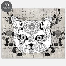 Wonderful sugar cat skull Puzzle
