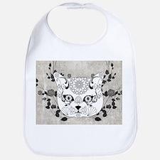 Wonderful sugar cat skull Baby Bib