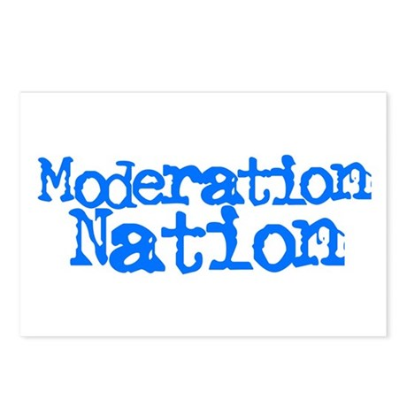 Moderation Nation Postcards (Package of 8)
