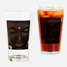 Buddha with Pink Bindi Drinking Glass