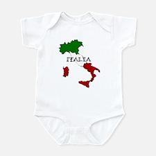 Italy Flag Map Infant Bodysuit