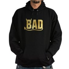 Bad - Gold horns and tail Hoodie