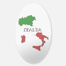 Italy Flag Map Sticker (Oval)