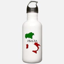 Italy Flag Map Water Bottle
