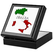 Italy Flag Map Keepsake Box