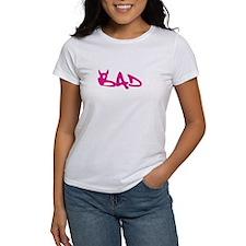 Bad - pink ink horns Tee