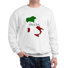 Italy Flag Map Sweatshirt