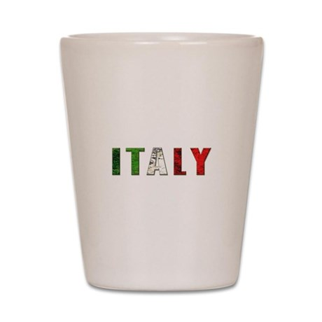 Italy grunge Aged Shot Glass