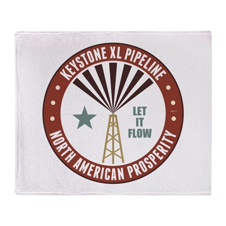 Keystone XL Pipeline Throw Blanket