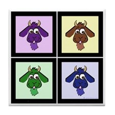 Pop Art Goats Tile Coaster