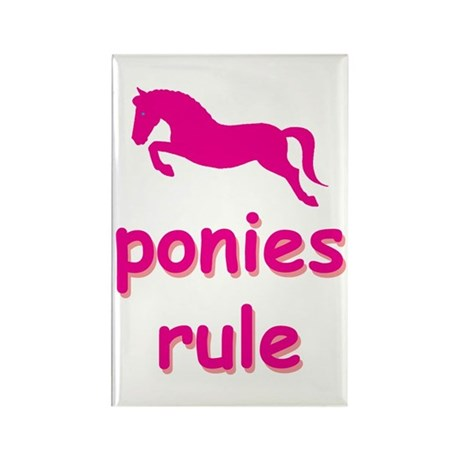 ponies rule Rectangle Magnet (100 pack)