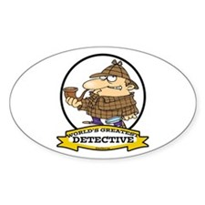 WORLDS GREATEST DETECTIVE III CARTOON Decal